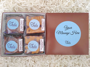 Vegan Personalized Peanut Butter Bar Lovers Food Gift Box