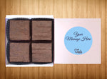 Vegan Personalized Peanut Butter Brownie Gourmet Gifts