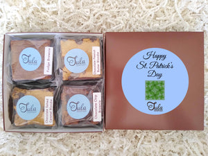 St Patrick Irish Shamrock Gourmet Cookie Bar Sampler Baked Items Gift Basket