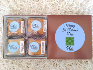 Gluten Free St Patricks Day Wheat Free Blondie Lovers Gourmet Sweet Treats Gift Basket, Individually Wrapped