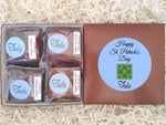 Vegan St Patricks Day Green Clover Dairy-Free Chocolate Lover Bars Gourmet Favors Pastry Care Package Gift Basket