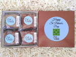 Vegan Saint Patricks Day Green Shamrock Peanut Butter Brownie Gourmet Gift Box