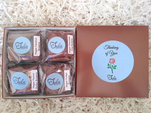 Vegan, Dairy-Free Thinking of You Brownie Lovers Gourmet Cheer Up Gift Box (Contains Peanuts)