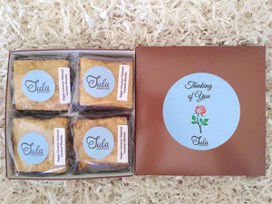 Vegan Thinking of You Coconut Oatmeal Caramel Blondie Mourning / Grief / Loss Gourmet Gift Box