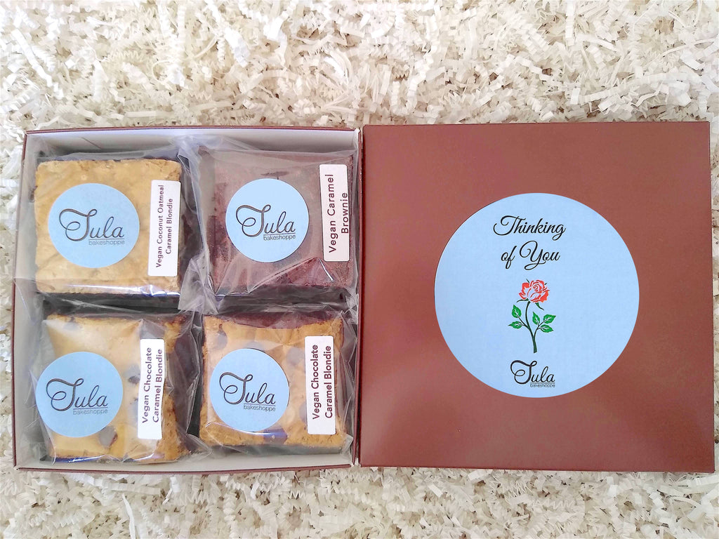Vegan Thinking of You Care Package Caramel Lover Bars Gourmet Food Gifts