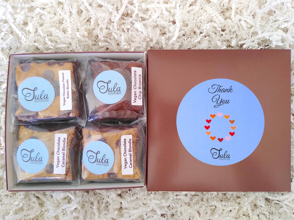 Vegan Thank You Gourmet Bars Favorites Dairy-Free Snack Gift Box