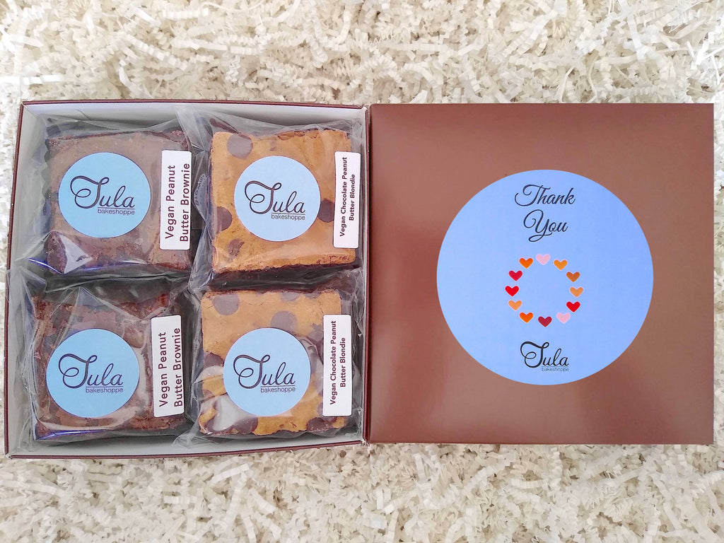 Vegan Thank You Peanut Butter Bar Lovers Baked Goods Food Gift Box