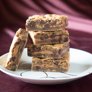 Vegan Personalized Chocolate Peanut Butter Blondies Pastries Gourmet Gift Box