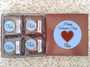 Valentine / Galentines Day Brownie Lovers Gourmet Bakery Care Package Gifts (Contains Peanuts)