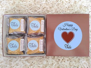 Valentines / Galentine's Day Coconut Oatmeal Caramel Blondie Gourmet Sweets Treat Gift Box