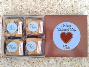 Valentine Chocolate Salted Caramel Blondie Favors Gourmet Bakery Cookies Food Gift Box