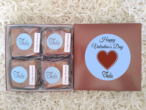 Valentines Heart I Love You Fudge Brownie Gourmet Gift Box