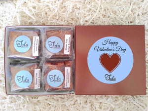 Gluten Free Valentine / Galentines Day Wheat Free Brownie Lovers Gourmet Bakery Care Package Gifts (Contains Peanuts)