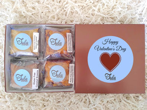 Gluten Free Valentine Day /  I Love You Caramel Lover Bars Gourmet Favors Snack Food Gifts