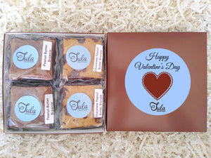 Valentines Hearts Peanut Butter Bar Lovers Bakery Favors Gift Box