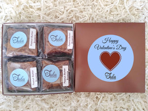Valentine's Day Peanut Butter Brownie Gourmet Baked Goods Gift Basket