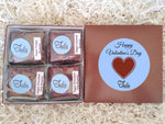 Vegan Valentine Romantic Peanut-Free Assorted Brownie Favors Gift Box, Individually Wrapped