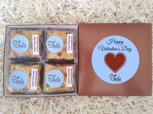 Vegan Valentine Plant Based Chocolate Caramel Blondie Favors Gourmet Bakery Cookies Food Gift Box
