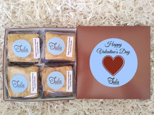 Vegan Valentines / Galentine's Day Coconut Oatmeal Caramel Blondie Gourmet Sweets Treat Gift Box