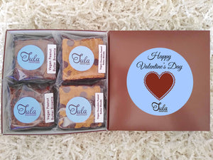 Vegan Valentines Hearts Peanut Butter Bar Lovers Bakery Favors Gift Box