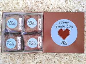 Vegan Valentine's Day Peanut Butter Brownie Gourmet Baked Goods Gift Basket