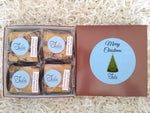 Christmas Holiday Chocolate Salted Caramel Blondie Favors Gourmet Bar Cookies Gift Box
