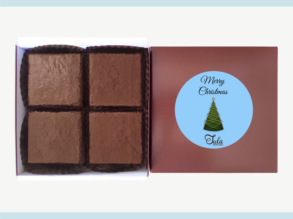 Christmas Peanut Butter Brownie Gourmet Baked Goods Gifts