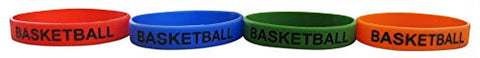 Novel Merk Basketball Sports Variety Pack Party Favor & Carnival Prize Rubber Band Wristband Bracelet Accessory (24 Pieces)