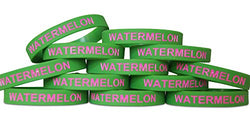 Novel Merk Watermelon Green Party Favor School Carnival Prize Silicone Rubber Band Wristband Bracelet (12 pieces)