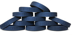 Novel Merk 12-Piece Black Hockey Party Favor & Prizes Silicone Wristbands
