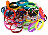 Novel Merk 60-Piece Multi-Color Blank Wristband Bracelet Party Favor & School Carnival Prize