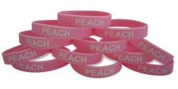 Novel Merk Peach Pink Fruit 12-Piece Party Favor & Carnival Prize Rubber Band Wristband Bracelet Accessory