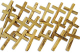 Novel Merk 20-Piece Small Olive Wood Cross Set For Crafts Made in the Bethlehem