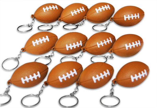 Novel Merk 12 Pack Football Keychains for Kids Party Favors & School Carnival Prizes