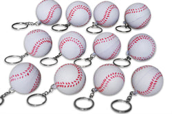 Novel Merk 12 Pack Baseball Keychains for Kids Party Favors & School Carnival Prizes