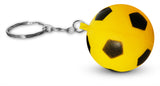 12-Piece Multi-Color Soccer Sports Ball Keychains Pack Includes Red, White, Yellow, Orange, Green, & Blue for Kids