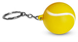 Novel Merk 12 Pack Tennis Ball Yellow Keychains for Kids Party Favors & School Carnival Prizes