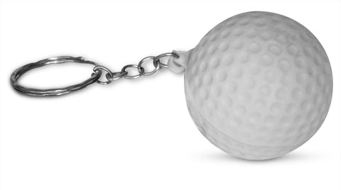 Novel Merk Single Pack Golf Ball White Keychains for Kids Party Favors & School Carnival Prizes