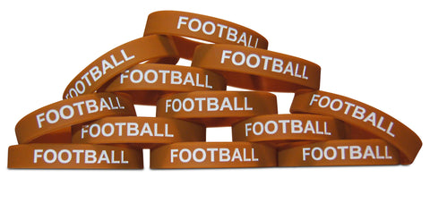 Novel Merk 12-Piece Football Party Favor & School Carnival Prize Sports Silicone Wristband Bracelet