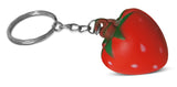 Novel Merk Red Strawberry Single Piece Fruit Keychains for Kids Party Favors & School Carnival Prizes