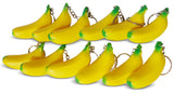 Novel Merk Yellow Banana 12-Piece Fruit Keychains for Kids Party Favors & School Carnival Prizes