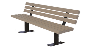 Dog Park Trail Bench with Back - Poly Wood Grain - dog park products