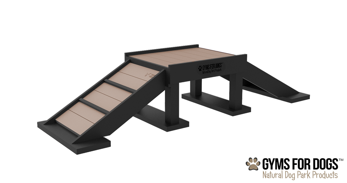 Play Series™ Bridge Climb - Poly Wood Grain - dog park products