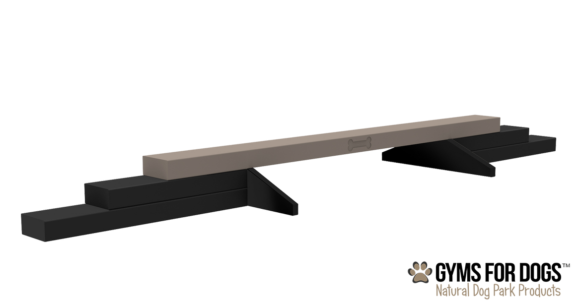 Balance Beam - Poly Wood Grain - dog park products