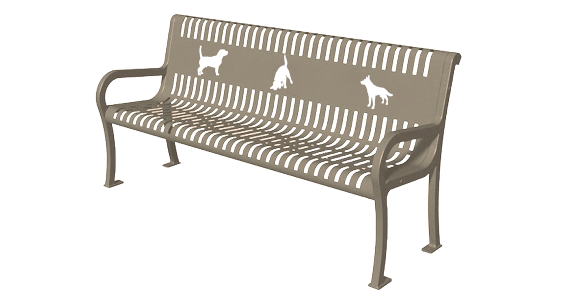 Three Dog Bench - dog park products