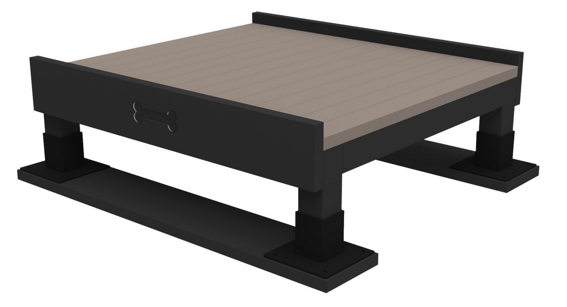 Training Platform (S/M) - Poly Wood Grain - dog park products