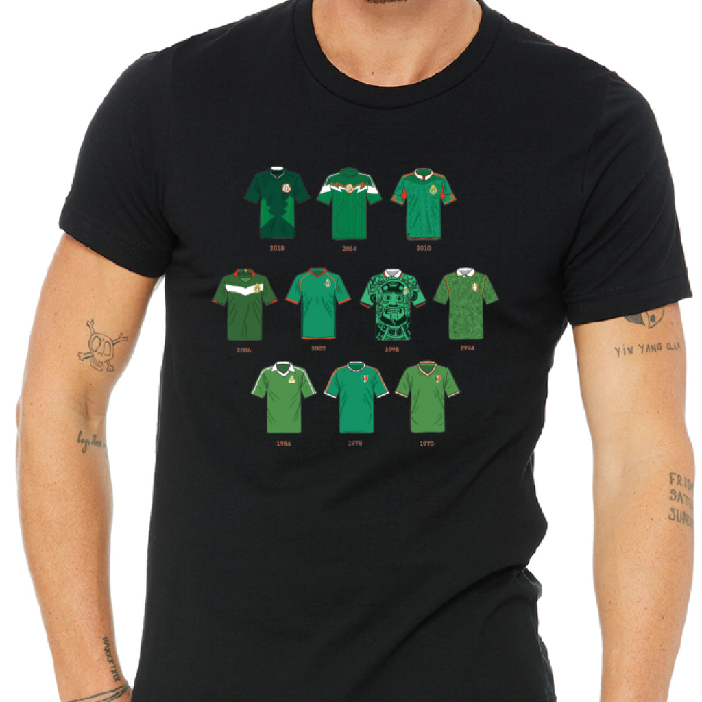 Mexico WC Jersey History Womens Tee