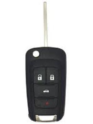Buick Chevrolet PUSH BUTTON START Remote Flip Key, 4 Button PRX