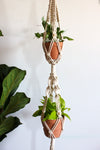 Dottie Macrame Plant Hanger (Double Pot, Two Tiered)