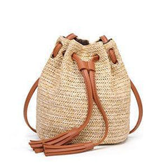 MSGHER: Solid summer beach bag